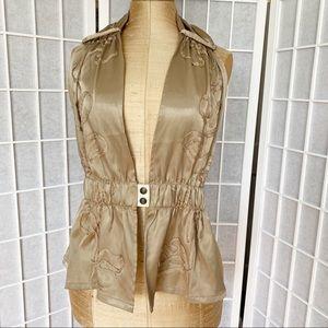 90s Parasuco cutout gold embossed vest